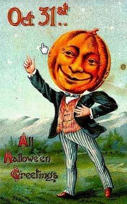 Pumpkin Monday Funday 02/06/2014 – Vintage Pumpkin Related Postcards