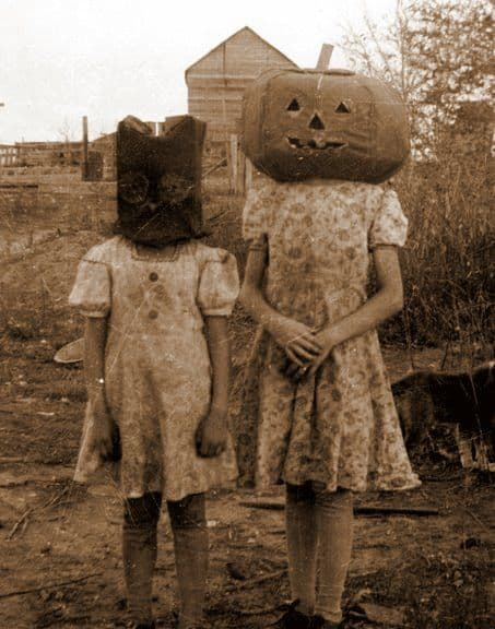Friday Flashback – Creepy Pumpkin Photo
