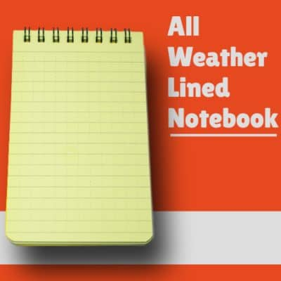All Weather Lined Notebook Updated